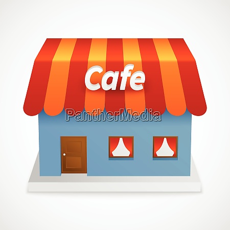 restaurant retro diner street cafe 3d