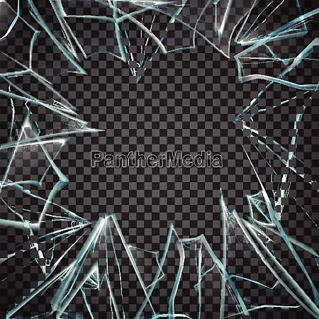 broken glass frame broken glass transparent