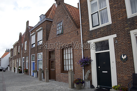 typical residential houses in holland