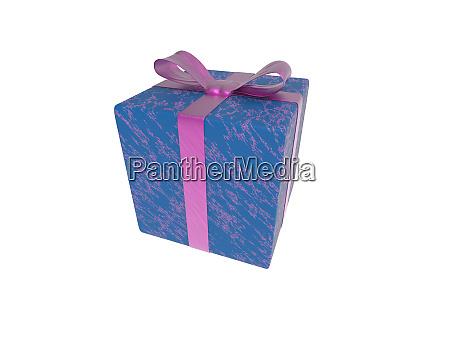fioletowy niebieski prezent lub prezent pakiet