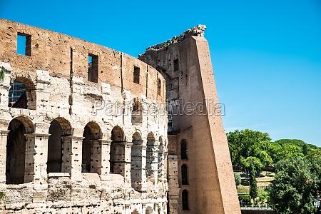 colosseum on a sunny dayin rome