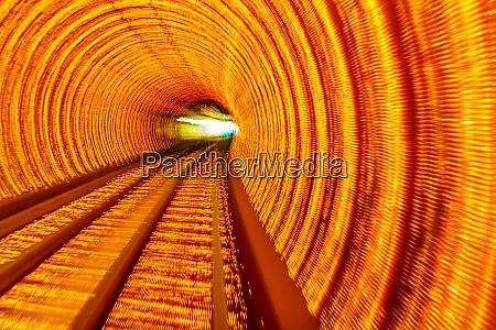 golden highway rail abstract underground railway