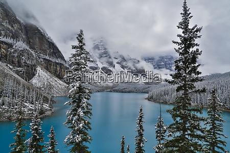 lake moraine with fresh late summer