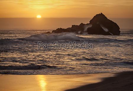 usa california big sur sunset and