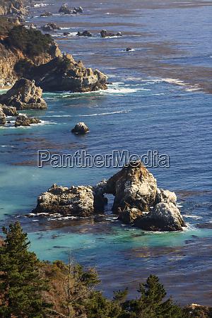 rock formations big sur central california