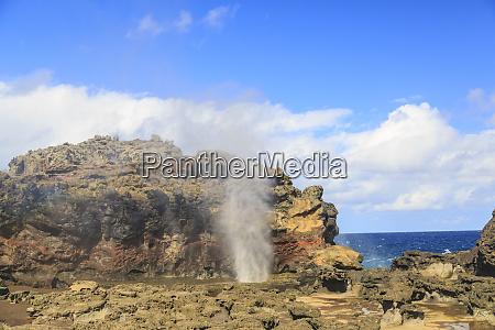 nakalele blowhole land mass on the