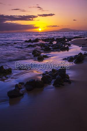 usa hawaii maui sunset on southern