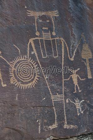 usa utah ancient petroglyphs in dinosaur