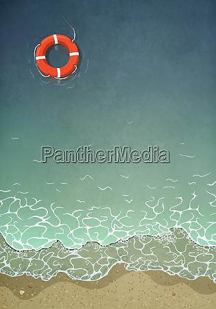 pierscien zycia unoszacy sie w wodzie