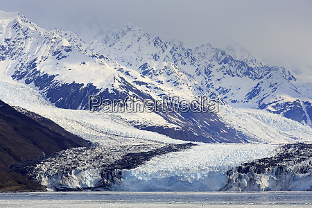 lodowiec, harvarda, w, college, fjord, southeast, alaska, stany - 27390234