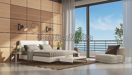 mastre sypialnia z tarasem z widokiem
