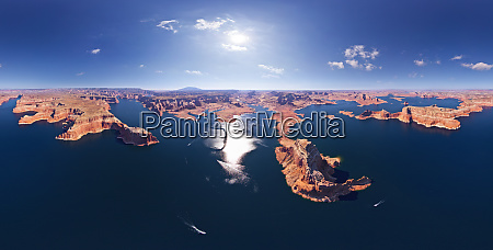 panoramic aerial view of the lake
