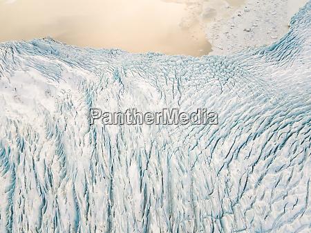 widok z lotu ptaka na lodowiec