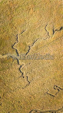 abstrakcyjny widok z lotu ptaka krajobrazu