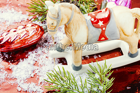 symbolic christmas horse
