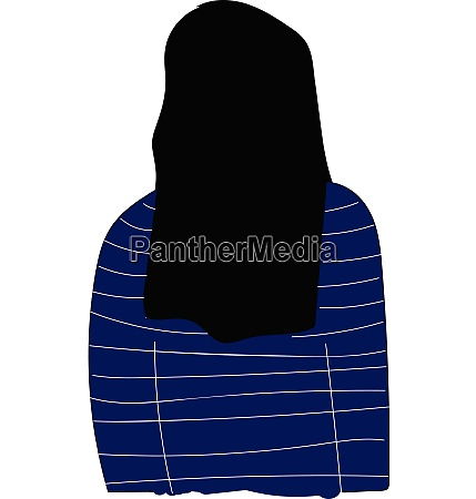 back of a girl with long