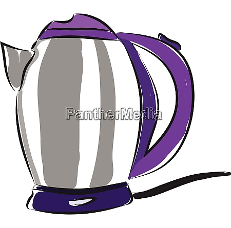 grey and purple electric kettle