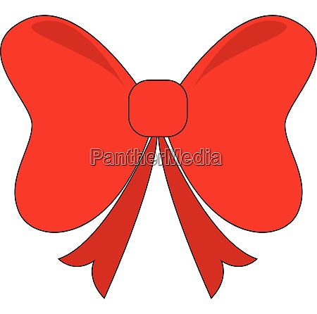 big bow vector or color illustration