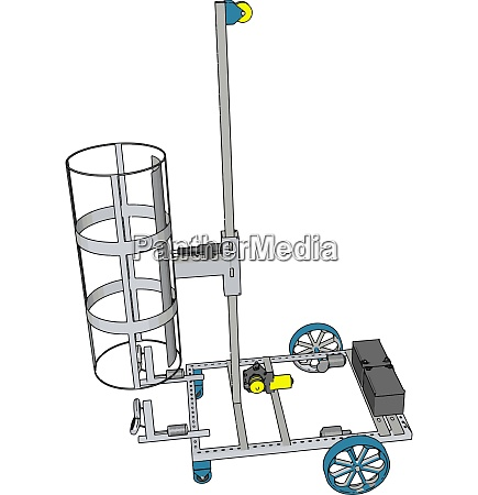 simple basket lift construction vehicle vector