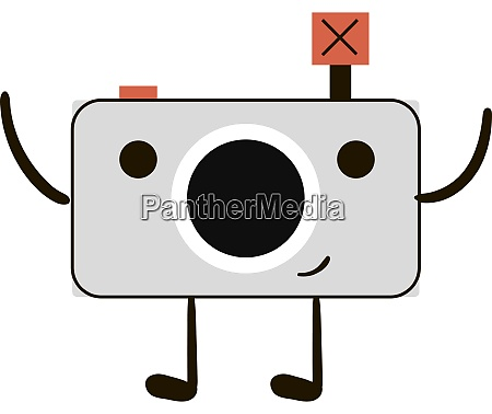 happy camera illustration vector on white