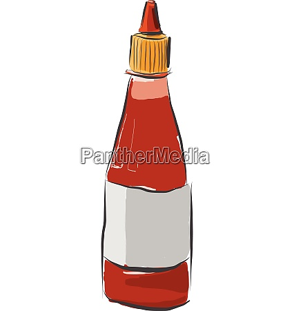 cartoon chilli saucehot sauceketchup vector or