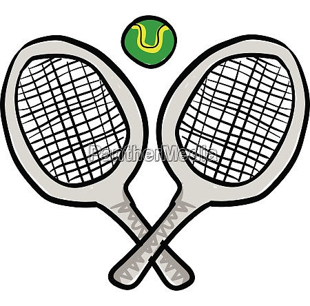 clipart of two tennis rackets with