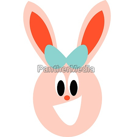 girl bunny vector or color illustration