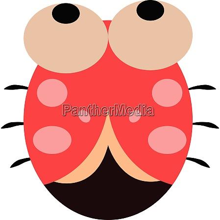 cartoon cute little ladybug vector or