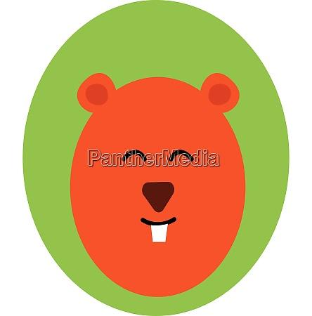 portrait of the mammal mole over