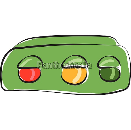 clipart of the horizontal green traffic