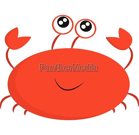 cancer with large eyes vector