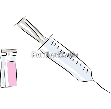 syringe hand drawn design illustration vector
