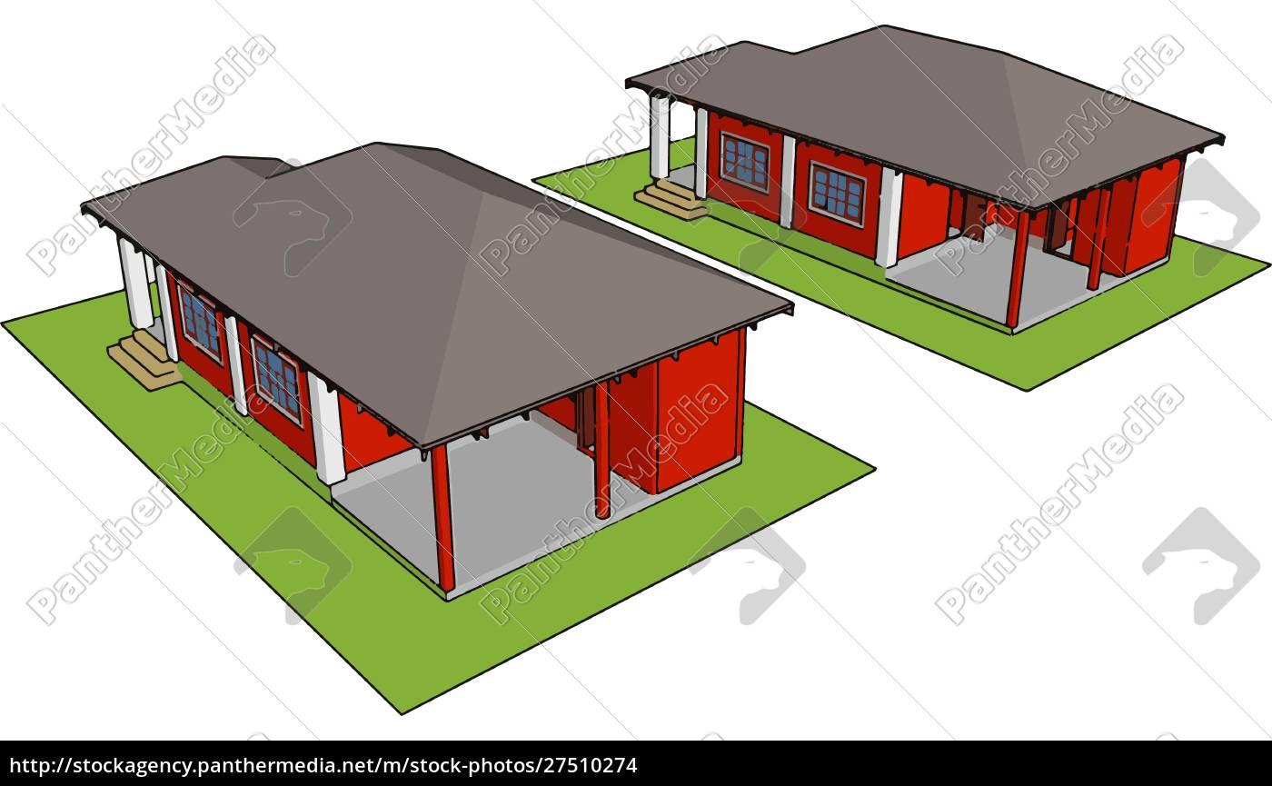 prefabrykowany, dom, ilustracja, wektor, na, białym, tle. - 27510274
