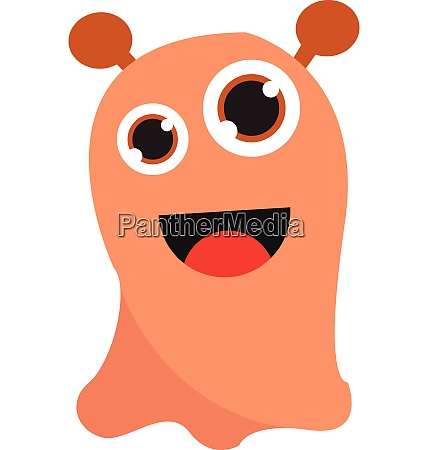 happy monster with big eyes vector