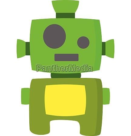 green robot vector or color illustration