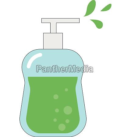 green liquid soap vector or color