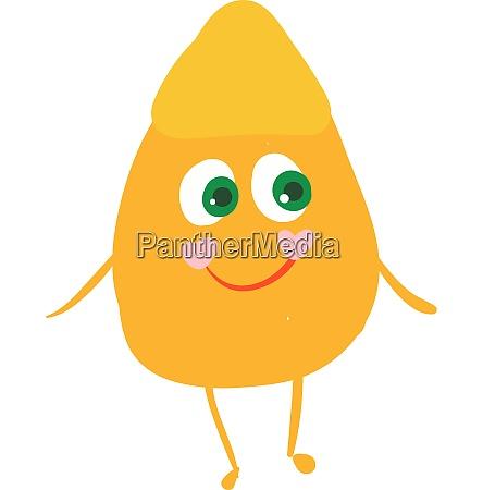 happy corn kernel vector or color