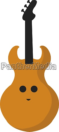 happy guitar illustration vector on white