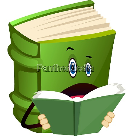 green book is reading illustration vector