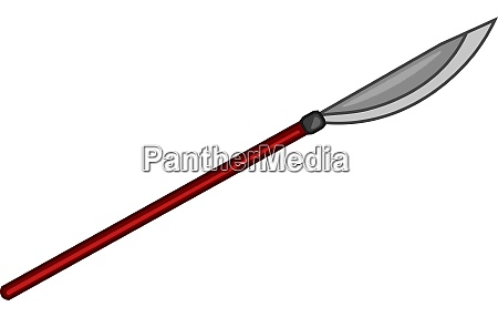 a japanese spear vector or color