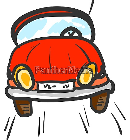 a red car vector or color