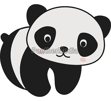 cute baby panda illustration vector on