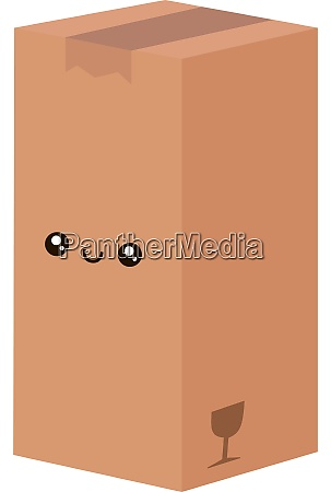 big cute box illustration vector on