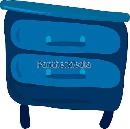 blue bedside table illustration vector on