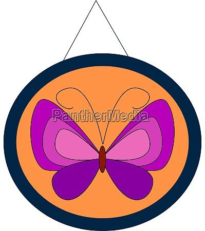 purple butterfly illustration vector on white