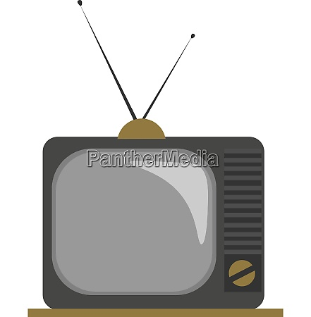 clipart of an old fashioned tv