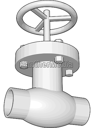 white flange illustration vector on white