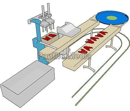 factory machine illustration vector on white