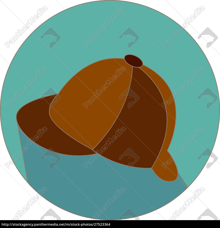 angielski, brązowy, kapelusz, ilustracja, wektor, na, białym, tle. - 27523364