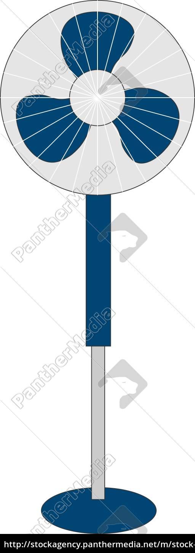 niebieski, wentylator, ilustracja, wektor, na, białym, tle. - 27523626